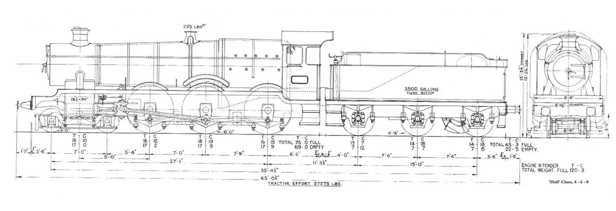 A selection of Great Western Railway locomotive drawings