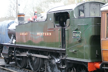 5100 class, number 5164 on the Severn Valley Railway