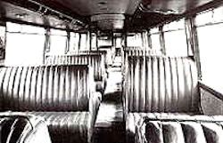 Interior view of railcar number 1