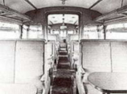 The less bus-like interior of railcar number 2