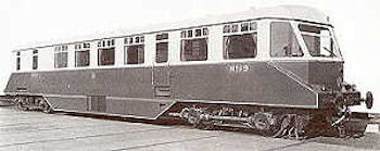 The first Swindon built railcar number 19