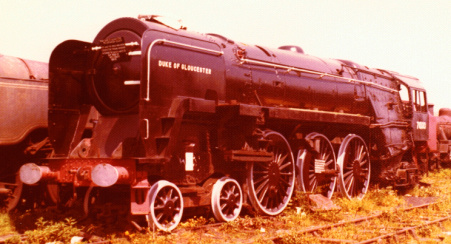 BR number 71000 Due of Gloucester at Barry, 16 June 1973