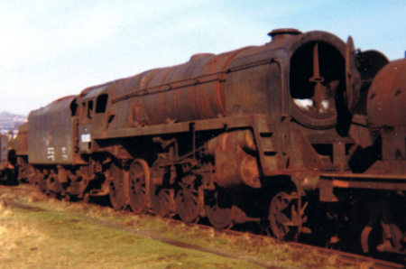 BR Standard number 92085 of Saltley at Barry, 17 February 1973
