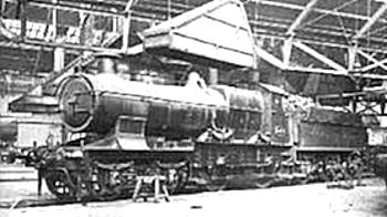 'Bulldog' class number 3433 seen inside Swindon shed