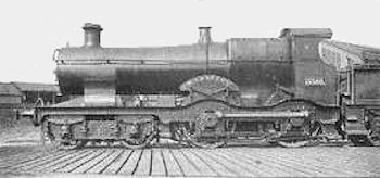 Bulldog class number 3309 Maristow showing the early curved framing