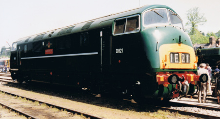 'Warship' class number D821'Greyhound' at Riverside freight yard, Exeter