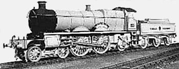 Saint class number 181 (later number 2981) Ivanhoe showing the 4 - 4 - 2 wheel arrangement when introduced