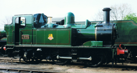'1400' class number 1466 pictured at Didcot Railway Centre