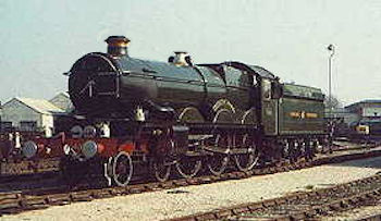 'Castle' class number 4079 Pendennis Castle prior to leaving for Australia